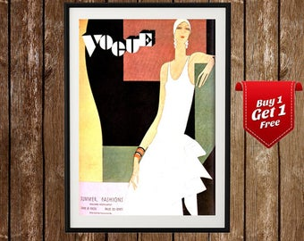 Vogue Vintage Cover Poster - 1929 Vogue Magazine, Fashion Art Poster, Vintage Vogue, Fashion Poster Art, Vogue Print, French Magazine Ad