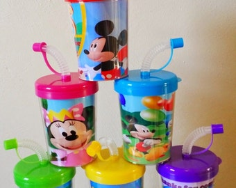 Mickey Mouse Clubhouse Party Favor Cups, Mickey Mouse Clubhouse Personalized Birthday Party Favor Cups Minnie Mouse SET OF 6