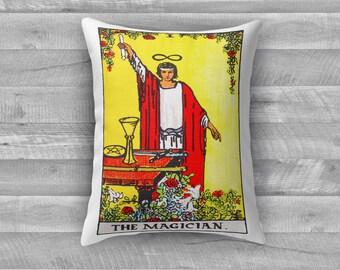 """Tarot Card Throw Pillow - Major Arcana I """"The Magician"""""""