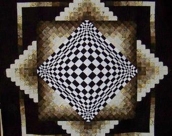 "3 Dimensional Quilt - 57.5"" x 57.5"""