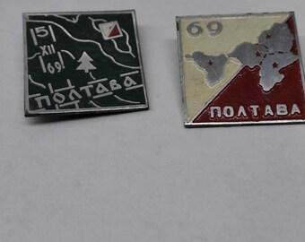 Pin unique Vintage Soviet Brooch