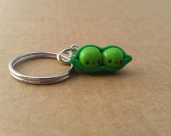 2 peas in a pod keychain