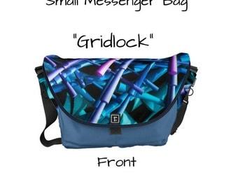 "Messenger Bag - ""Gridlock"" - Great gift item!"