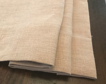 Faux Roman Shades and Valances in 100% Linen Fabric, Natural or White, Fully Lined, Cordless. Ready to hang!
