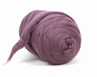 5 KG (11 lbs) Sale! Chunky thick yarn blanket, throw, rug. Pure wool, Giant Jumbo yarn, Super bulky yarn, DIY Arm knitting, felting, roving.