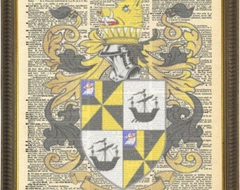Scottish Campbell Clan family crests. Scottish Clan Coat of Arms. Scottish Clans Vintage Prints