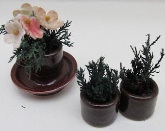 Vintage Ceramic Dolls House Miniature Pot Plants