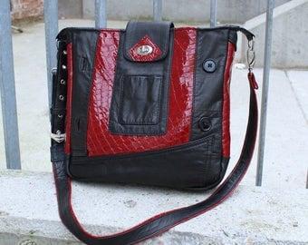 Messenger bag, leather bag, business bag, Upcycling