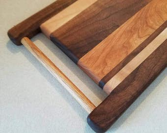 Cutting board, bread board. Cheese serving, hardwood,  kitchen decor, style. Unique