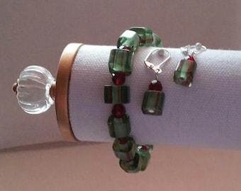 Green Cain Bead Set