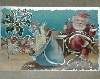 Vintage Christmas Postcard 1909