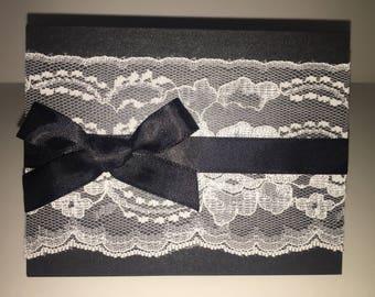Elegant Fold Lace Card ( set of 5 )