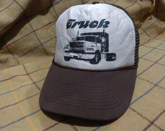 Vintage Truck Cap Hat Vintage Truck Trucker Cap Hat by Otto