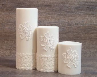 CocoSoy Pillars - White, Home Decor Candle