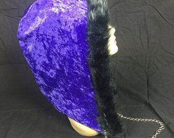 Purple Velvet Reversible Hood