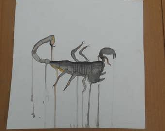 Emperor Scorpion Watercolor Painting