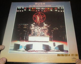 Rush VG++ vinyl - All the World is a Stage  Live Recording - Original Edition - Lp in NM Condition.