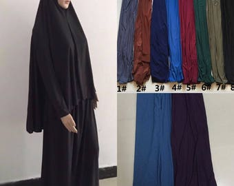 2pc Mixed Colors Lycra Prayer Outfit