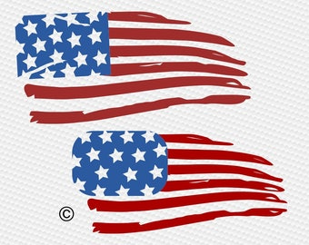Distressed american flag svg, Usa flag svg, Patriotic svg, 4th of july svg, SVG Files, Cricut, Cameo, Cut file, Clipart, Svg, DXF, Png, Eps