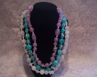 Three Assorted Colors Beaded Necklaces