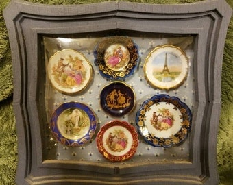 Vintage Miniature Limoge Plate Collection