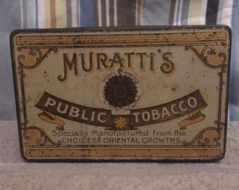 Murratti's Public Tobacco Tin