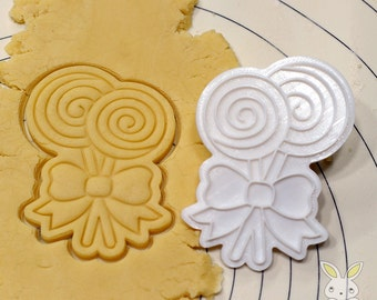 Lollipop Spiral Cookie Cutter and Stamp