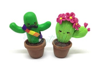 Kawaii Cactus Figurines