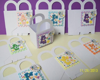 8 CARE BEARS personalized boxes party favor goody bags