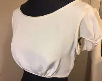 Ivory Silk Crepe Top for Wedding Bridalwear