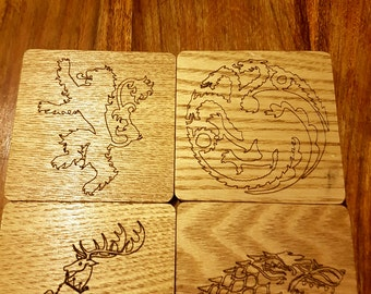 Pack of 4 Game Of Thrones coasters