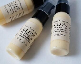 Natural Face Cream for sensitive ance oily dry skin Face Lotion Moisturizer Sea Buckthorn Rosehip Tsubaki Camellia