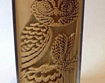 Owl Book Folding Pattern (Intricate)