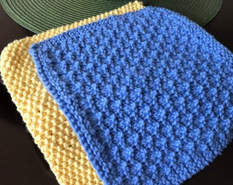 Knitted Hot Pad Etsy