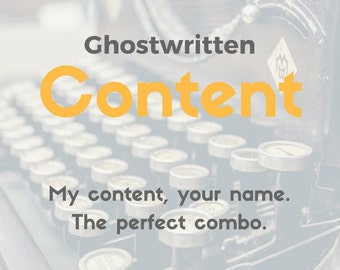 Online article - Blog Content Writing - Blog article - 1250 Word Blog post - Ghostwriting - Web content - Copywriting - Writing Services