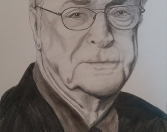 michael cane pencil sketch