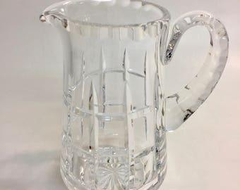 Vintage Crystal Cut Glass 5.5 Inch Creamer | Vintage Creamer | Crystal Creamer | Crystal Pitcher | Glass Creamer | Vintage Cut Glass Creamer
