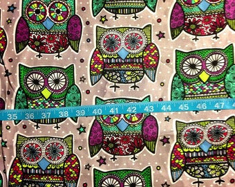 Paisley Owl Fabric-By-The-Yard