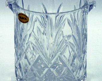 Stunning vintage HEAVY cut crystal ice bucket - Regency barware