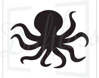Octopus Stencil, Nautical Stencil, Reusable Stencil