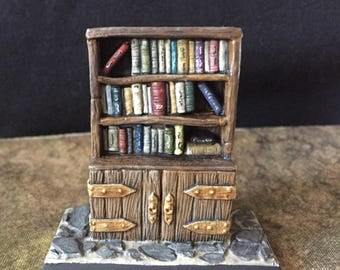 Hand painted Reaper Miniature Bookcase Bookshelf dungeon decoration RPG decor Role Play accessories