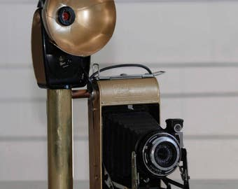 Steampunk vintage webcam