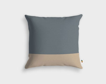 Basic GREY TAUPE cushion - Made in France - 45 x 45 cm
