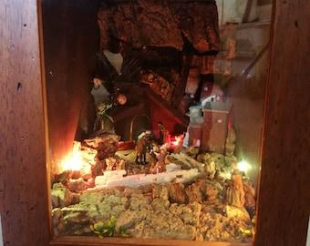 Handmade Nativity scene