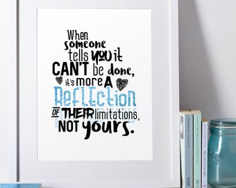 Printable Quote Homeschool Unschool Art Inspirational Wall Print