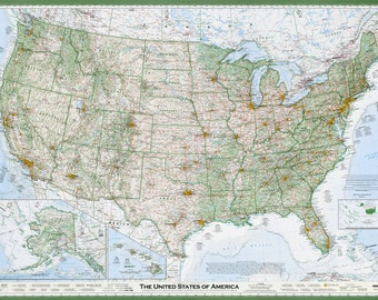 Essential Geography of the United States / Laminated