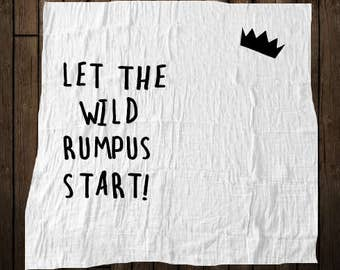 Let the Wild Rumpus Start Baby Blanket-Personalized\Custom\Made to Order\New Mom\Baby Shower\Where the Wild Things Are