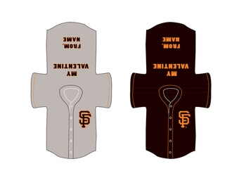 GIANTS MLB Baseball Valentine's Day Cards Customizable and Printable