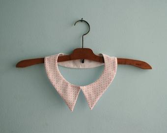 Pink Polka Dot Collar / Peter Pan Collar