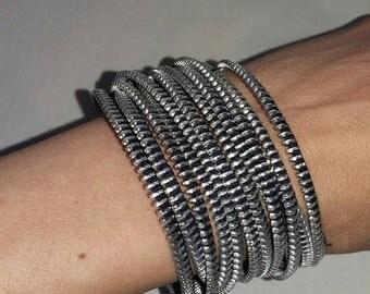 Zipper bracelet  handmade